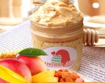 Mango Papaya Triple-Whipped Body Butter: Tropical Fruit HoneyVixens™ Thick 4 oz. - Natural, Tropical, Cruelty-Free, Vegan, Hawaiian, Fruity