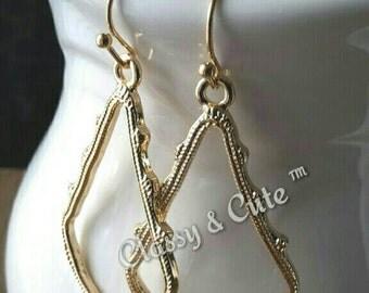 KS Inspired Gold Earrings