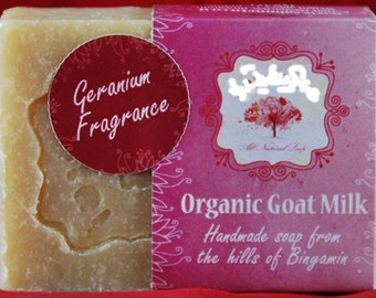 Natural ALL 100% Handmade Organic Goat Milk Soap- Geranium Scented  village made