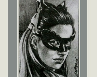 Catwoman The Dark Knight Rises ACEO movie art L M Stephens