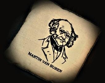 President Embroidered Martin Van Buren Pillow