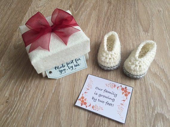 Baby Gift Ideas From Grandparents : Pregnancy announcement gift grandparent reveal white baby