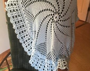 Crocheted Circular Baby Blanket