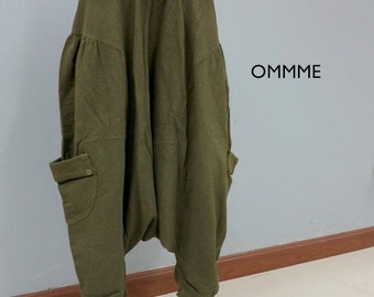 Harem pants 017 (olive green)