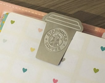 Starbucks bookmark paperclip (planner agenda filofax binder)