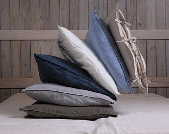 Linen pillow sham.  Hand made by LinenSky.