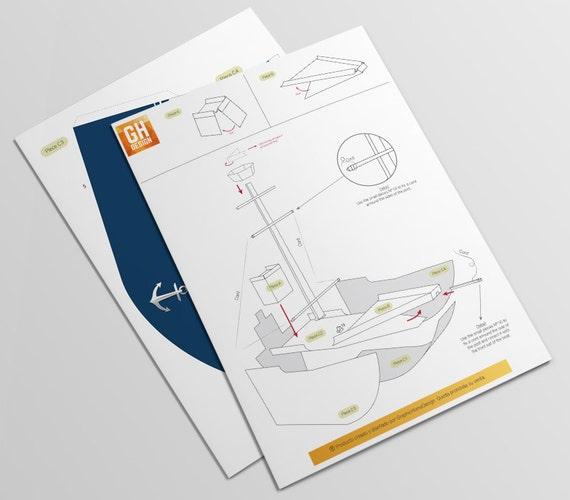 Barco decorativo hecho en papel decoracion marinera for Decoracion del hogar pdf