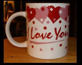 """Valentine """"I Love You"""" Mug"""