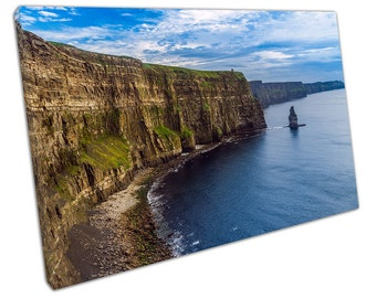 View of CLIFFS of Moher Canvas WALL ART C2269