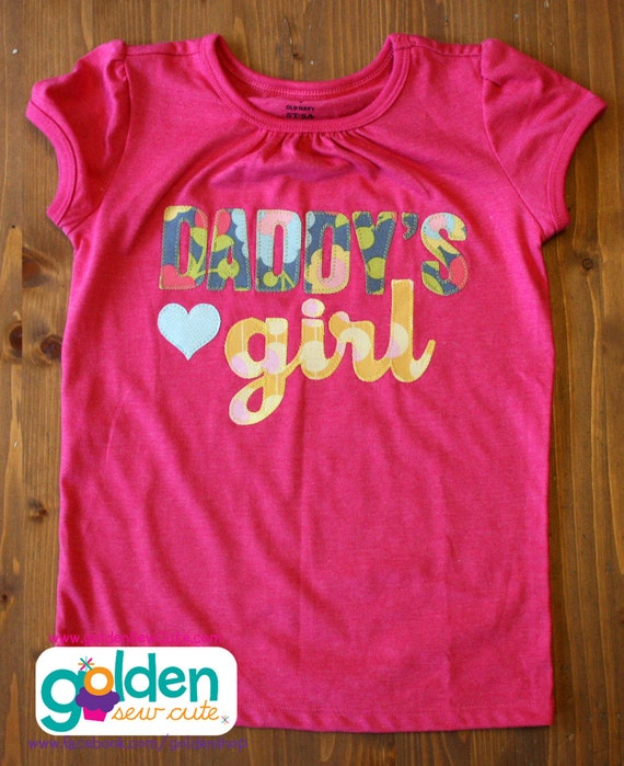 Father's Day Daddy's Girl with Heart Tee, Dad, Daddy, Father, Papa