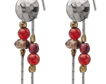Shimmers Earrings: Pomegranate