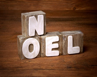 Shabby Chic NOEL Building Blocks