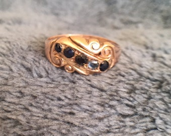 Old European style ring from approximately 1920's to 1930's.