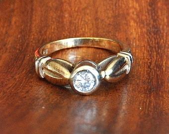 0.25ct Diamond Engagement ring Valuation 1.730K UK Hallmarks 9ct gold Size J 1/2 US 5 3.77gms