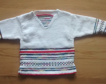size 80, crisp cotton summer sweater