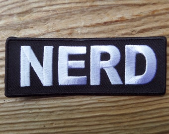 Nerd embroidered patch