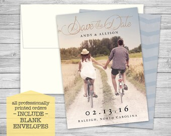 Save the Date Wedding Announcements + Envelopes - Custom Photo - Digital or Professionally Printed + SHIPPING INCLUDED