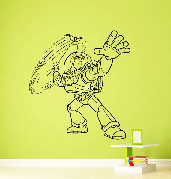 Toy Story Wall Light : Buzz Lightyear Toy Story Wall Vinyl Sticker Woody Jessie