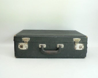 1900s Old Black Small Suitcase