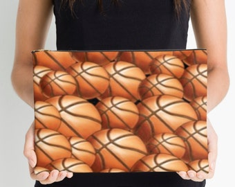 """Personalized 12.5"""" x 8.5"""" Basketball Pouch"""