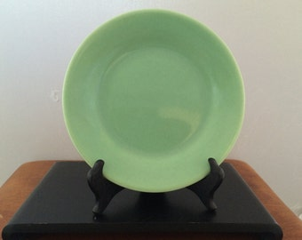 Vintage Bauer Pottery Green Plainware Bread and Butter Plate