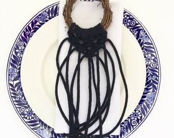 Macrame wreath favor, ornament, wedding decor