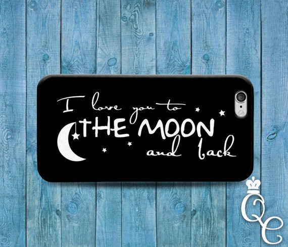 iPhone 4 4s 5 5s 5c SE 6 6s 7 plus iPod Touch 4th 5th 6th Generation Cool Black White Phone Cover Cute I Love You Moon Couple Quote Case