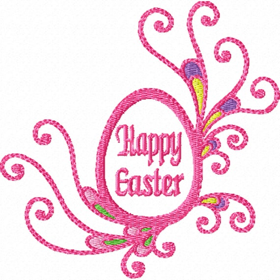 Fancy easter egg a machine embroidery design for