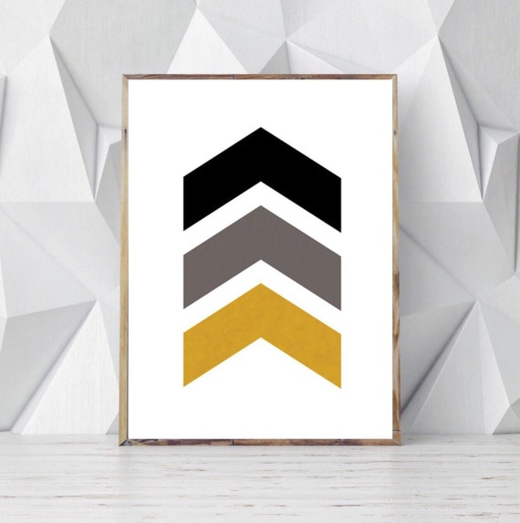 Etsy Gold Wall Decor : Black gold wall decor scandinavian print by ojudesign