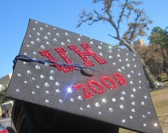 Custom Swarovski Crystal Rhinestone Graduation Cap