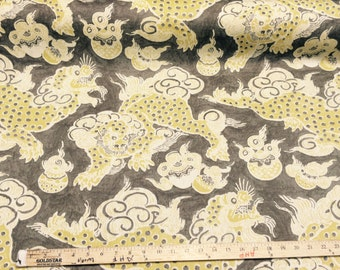 Dunmore Dragons Linen Upholstery Fabric by PK Lifestyles draperys by the yard Multipurpose