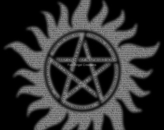 Carry On Supernatural Anti-Possession Pentacle Art Print