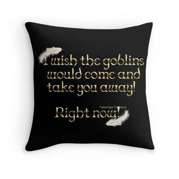 Throw Away Pillow Cases : Labyrinth Goblins Take You Away Throw Pillow Pillow Case