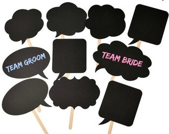 Chalkboard Photo Booth Props- 10 pcs.