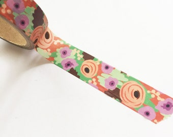 Beautiful deco rose floral washi tape, Adhesive Tape, Scrapbooking, Collage, Deco, Wrapping, Unique Art Supply, floral washi, roses