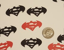 Batman Vs Superman table scatters - Birthday Party