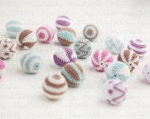 Crochet beads - 20pcs. (Custom order)