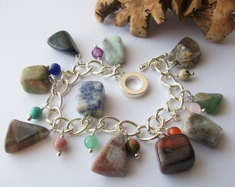 Mother Nature - Chunky Gemstone charm bracelet