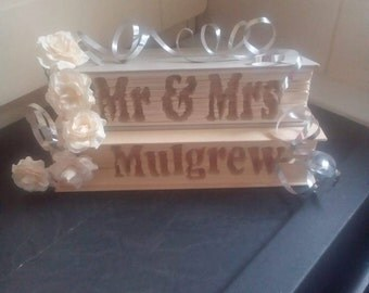 Mr & Mrs (any surname) CUT and Fold Book Folding Patterns(set of 2 digital CUSTOM PATTERNS sent by email only)
