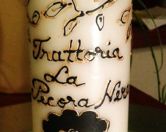 PERSONALIZED CANDLE. Custom hand made candle