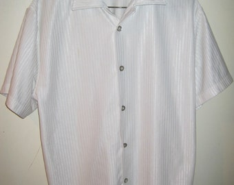 VESTELANTINO 100% Polyester Bowling clubbing short sleeve shirt Sz M