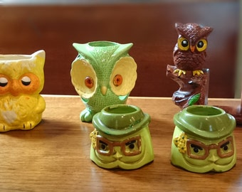 Vintage Owl Collection/Made in Japan/Owls