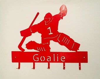 Hockey Goalie Medal Hangervkfkofkkcmbuurj romfjcy huholfkuu