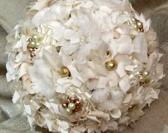 Wedding bouquet, Fabric bridal bouquets, Fabric flowers bouquets, Bridal bouquets, Shabby chic bouquets, French country fabric bouquets