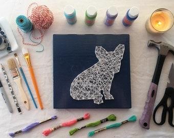 French Bulldog String Art Home Decor - Frenchie Gift for Dog Lover