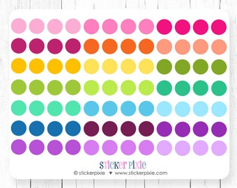 Circle Stickers Dot Sticker Sheets Planner Stickers