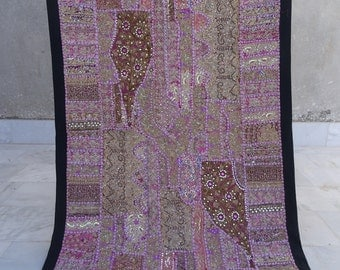 VINTAGE Cotton Patchwork indian Table Cloth Tapestry Home Decor 001