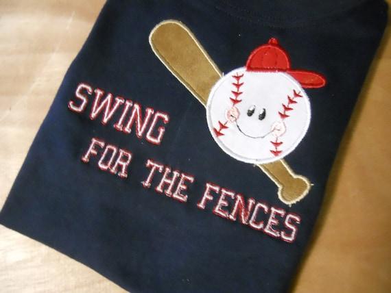 Swing for the fences baseball shirt