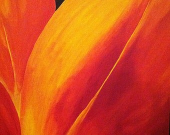 """Acrylic Painting - Flower - """"Hopeful"""" - Ready to Ship - Full Color"""