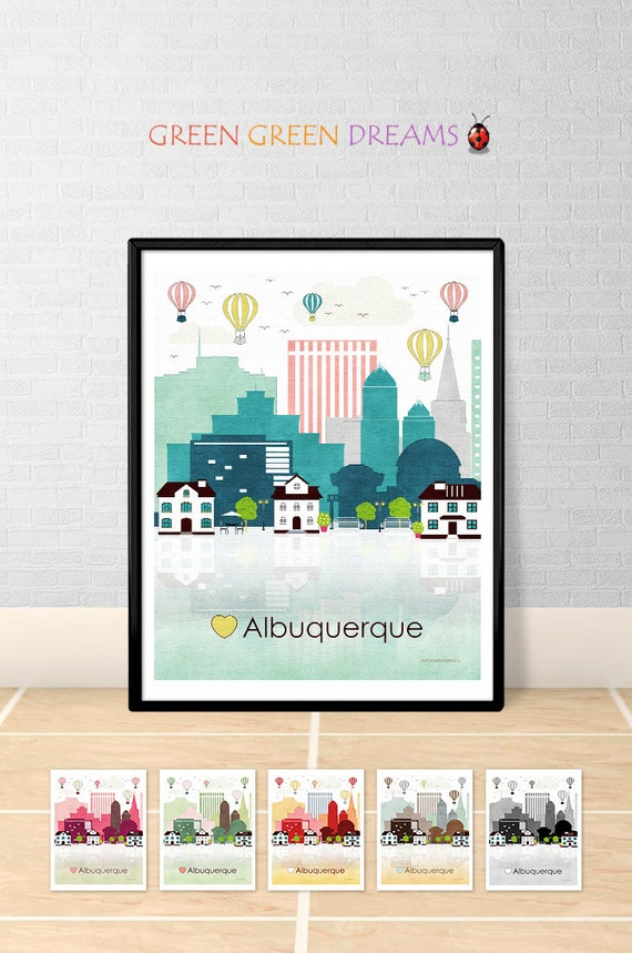 at home decor albuquerque albuquerque print wall poster albuquerque new mexico 10376